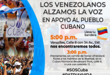Photo of En Miami este domingo: venezolanos con el pueblo cubano