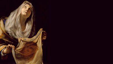 Photo of Santa Verónica, a cuyo velo se le impregnó el rostro de Cristo